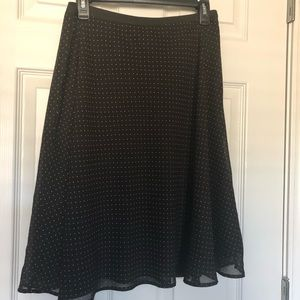 Cute A-line fully lined polka dot skirt